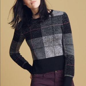 Rag & Bone Tegan Plaid Crewneck Pullover Sweater
